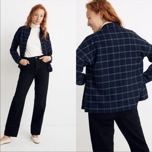 MADEWELL Navy Flannel Bromley Button Down shirt